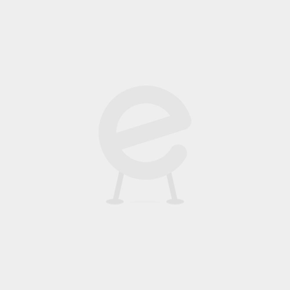 Staanlamp Arco met globe - nikkel, wit - 100w E27