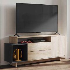 Tv-meubel Kube eik/zwart