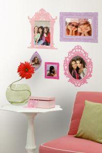 RoomMates muurstickers - Fotolijsten roze en paars