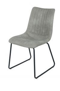 Lot de 2 chaises Louis - gris clair