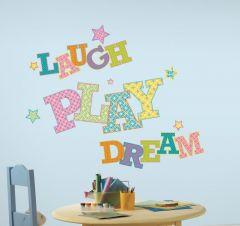 RoomMates muurstickers - Laugh play dream