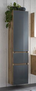 Kolomkast Helina 40cm 2 deuren & 1 lade - eik/grijs