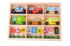 Set de véhicules en bois