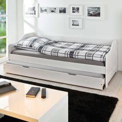 Lit gigogne Sandra 90x190cm - white wash