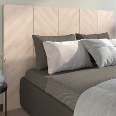 Tête de lit Franco pour lit double -chêne Bistrot