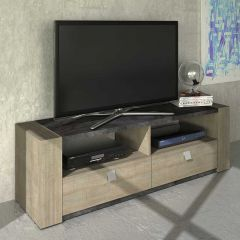 Meuble tv Iris 155cm - chêne gris