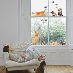 Raamsticker Cats