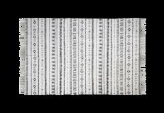 Vloerkleed - katoen - 210x150 cm - zwart / wit
