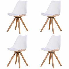 Set van 4 stoelen Chic - wit