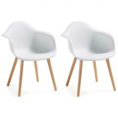 Lot de 2 chaises Kevya - blanc