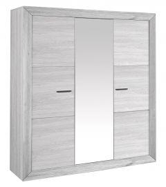 Kledingkast Neal 200cm met spiegeldeur - grijze eik
