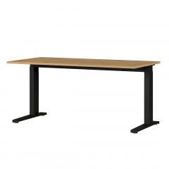 Bureau Osmond 160cm mechanisch verstelbaar - eik/zwart