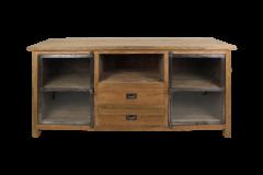 TV meubel Hunter 160cm - reclaimed teak / ijzer
