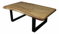 Salontafel SoHo - acacia / ijzer - powdercoated black