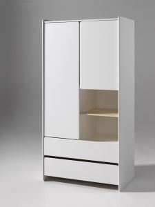 Armoire 2 portes Kiddy - blanc