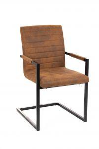 Lot de 2 chaises cantilever Bob - cognac