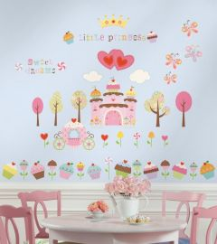 RoomMates stickers muraux Princesse gâteaux