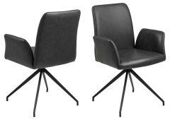 Chaise pivotante Robert - noir