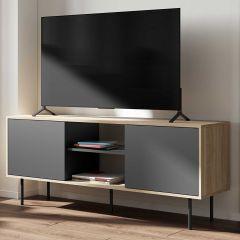 Meuble TV Vibe 150cm - chêne/noir