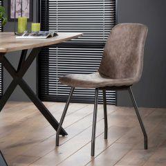 Set van 4 stoelen Violette - bruin