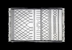 Vloerkleed - katoen - 180x120 cm - zwart / wit