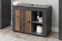 Wastafelonderkast Rutger 1 deur - hout/grafiet