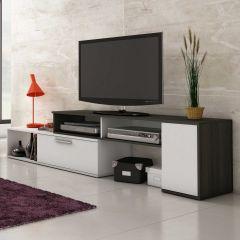 Tv-meubel Whale 170cm - wit/antraciet