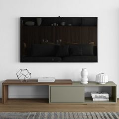 Tv-meubel Movie 110cm - grijs/walnoot