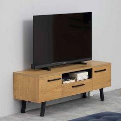 Tv-meubel Manon 140cm - eik/zwart