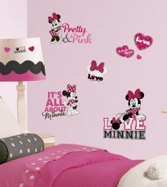 RoomMates stickers muraux - Minnie loves pink