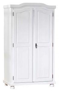 Garde-robe Bastian 104cm avec 2 portes - blanc