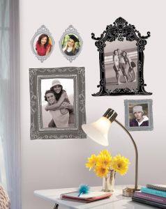 RoomMates stickers muraux - Cadres photos noir et gris