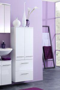Badkamerkast Small 50cm 2 deuren & 2 lades - hoogglans wit