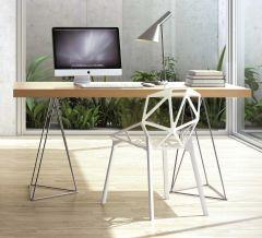 Table Multis 180cm - chêne/chrome