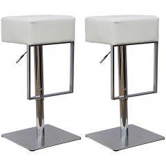 Chaise de bar Global - blanc