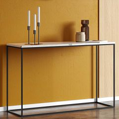 Sidetable Gleam - wit marmer/staal