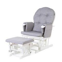 Schommelstoel Gliding Chair met voetenbankje - grijs