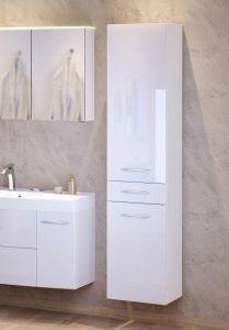 Colonne Florent 40cm avec 2 portes & tiroir - blanc