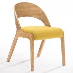 Jeu de 2 chaises Ulrike - bois/jaune
