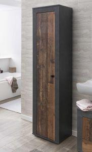Kolomkast Rutger 1 deur - hout/grafiet