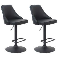 Jeu de 2 chaises de bar Classic - noir
