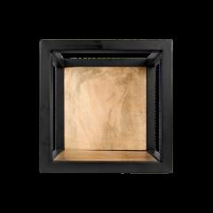 Wandbox Levels - 25x25 cm - mangohout / ijzer