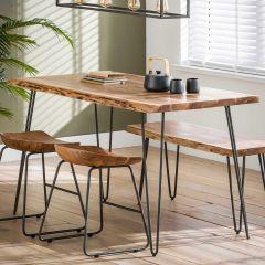 Table à manger 130 cm - acacia