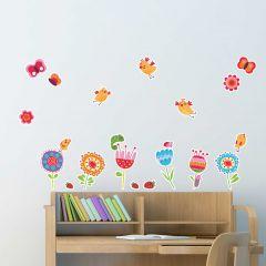 Stickers muraux Oiseaux et Fleurs