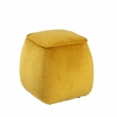 Pouf Mirza 40x40 - jaune