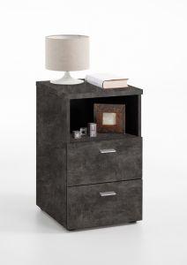 Nachtkastje Colleen - donker beton