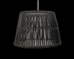 Hanglamp - ø48 cm - rotan - black wash