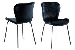 Set de 2 chaises en velours Tilda - noir