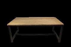 Table de repas Hunter - 180x90 cm - teck / fer recyclé