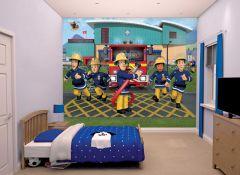 Kinderbehang brandweerman Sam